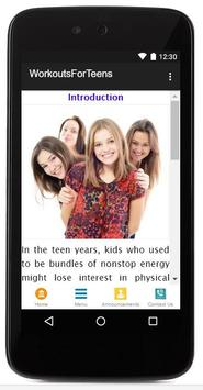 Workouts For Teens poster