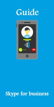 Guide for skype for business poster