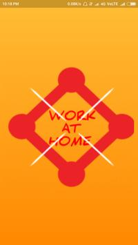 Work at home poster