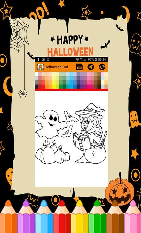 Halloween coloring pages : witches & Pumpkins for Android - APK Download