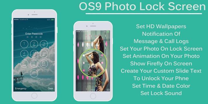 OS9 Photo Lock Screen : Slide screenshot 1