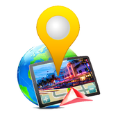 3D Maps Street panorama view icon