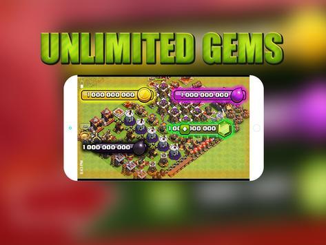 GEMS For Clash Of Clans prank apk screenshot