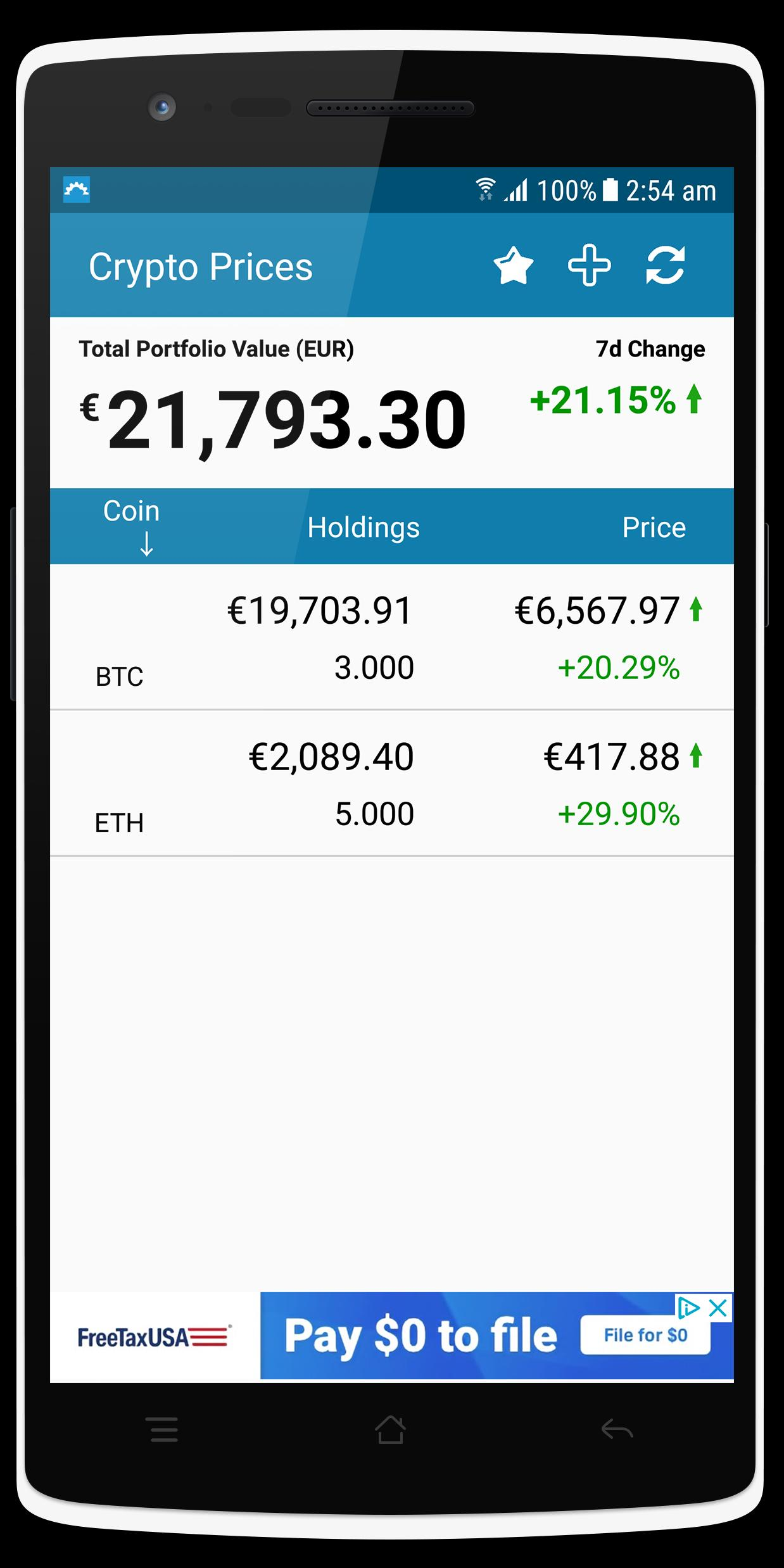 cryptocurrency holdings tracker