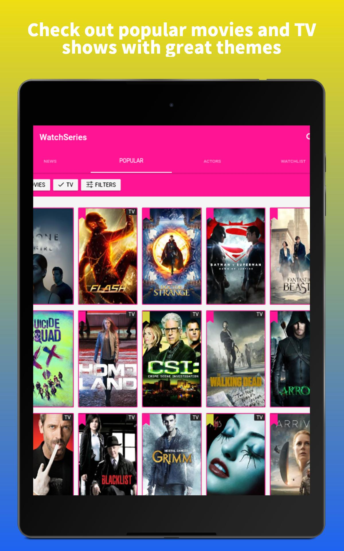 WatchSeries - Guide For Movie, TV, Cinema & more for Android