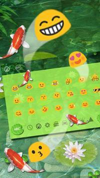 Water Garden Keyboard Theme apk screenshot