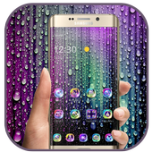 Raindrops and droplets icon