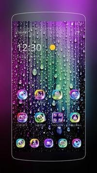 Raindrops and droplets poster