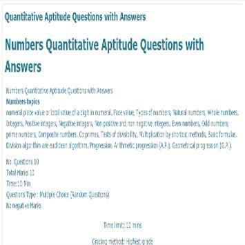 Quantitative Aptitude apk screenshot
