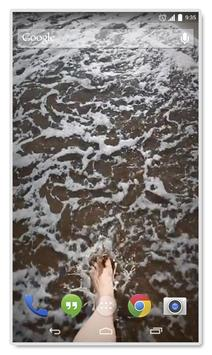 Walk on the Beach LiveWP apk screenshot