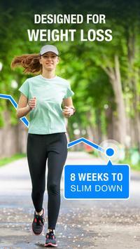 المشي لخسارة الوزن - متتبّع المشي الملصق