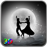 3D Moon Couple Dance LWP icon