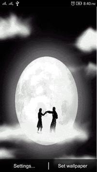 3D Moon Couple Dance LWP apk screenshot