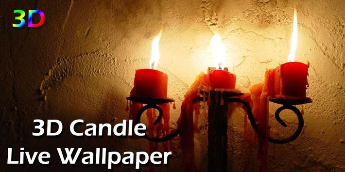 3D Candle Live Wallpaper poster