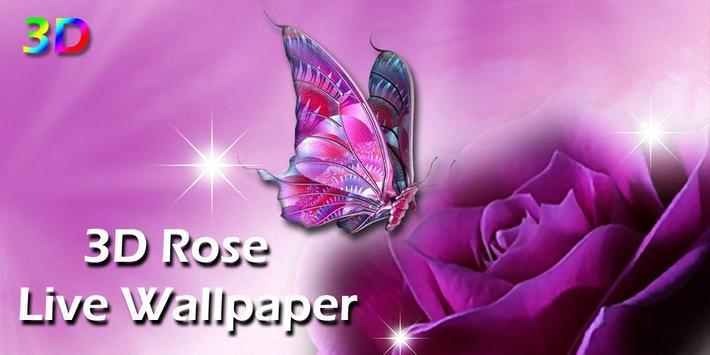 3D Rose Live Wallpaper poster
