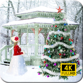 Xmas Wallpaper:  Santa Claus & Christmas Wallpaper icon