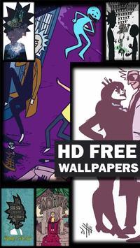 Wallpaper Rick Morty poster