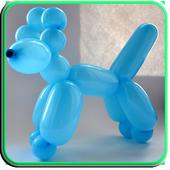 Twisting modeling, twist balloon icon