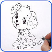Drawing for toddlers, Draw cartoon and Animals icon