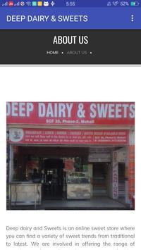 DEEP DAIRY & SWEETS apk screenshot
