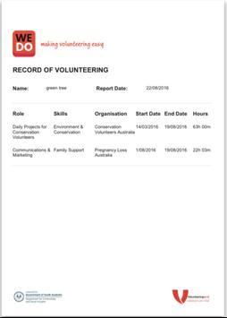 WeDo making volunteering easy apk screenshot