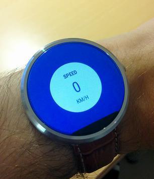 Tachometer Für Wear OS (Android Wear) Plakat