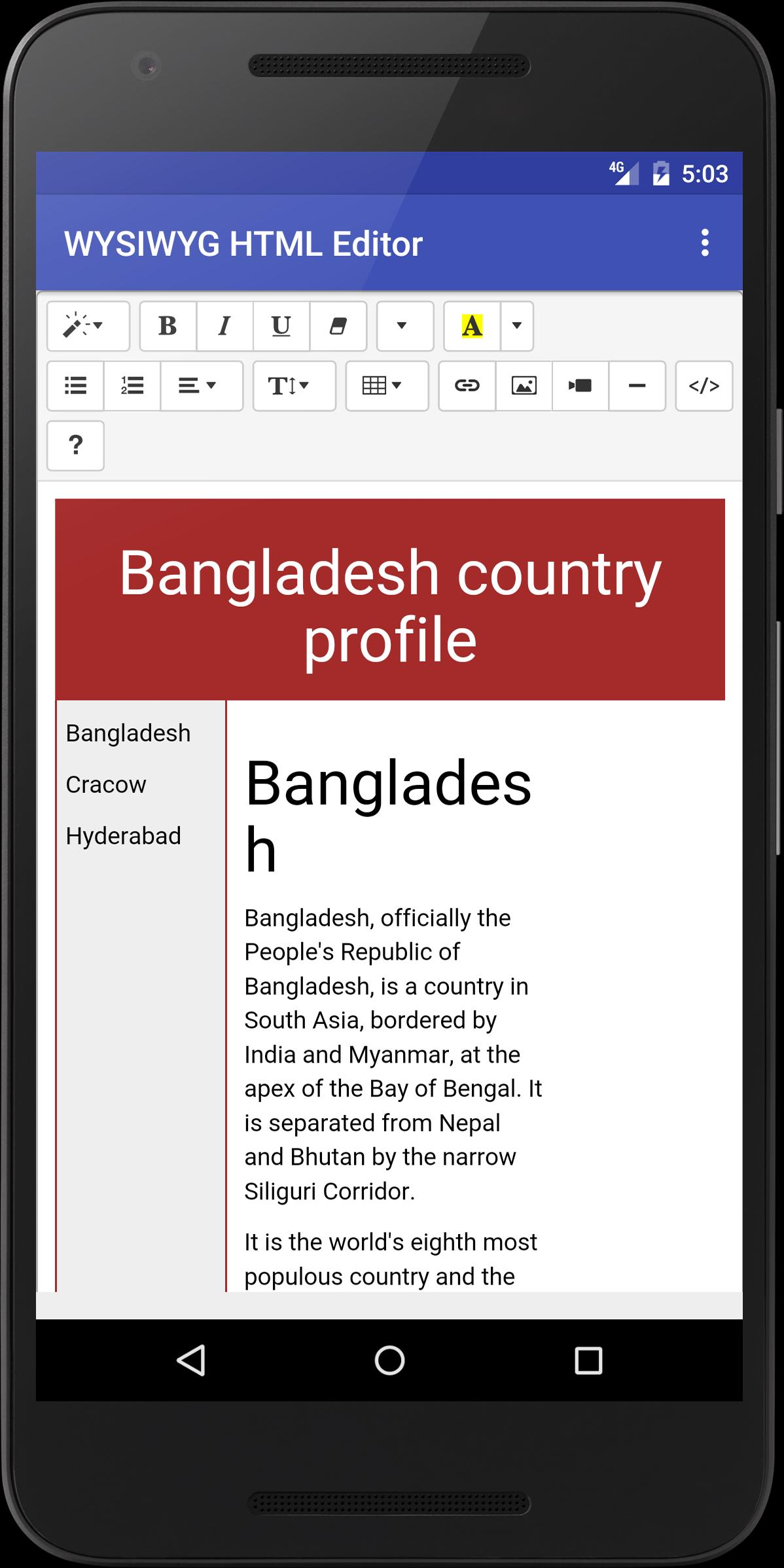 WYSIWYG HTML Editor for Android - APK Download