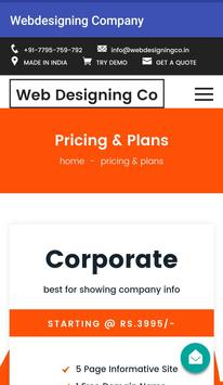Web Designing Company apk screenshot