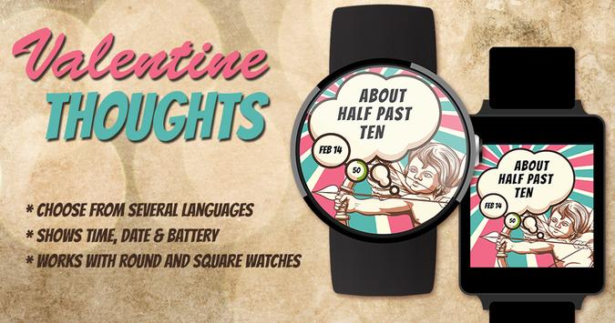 Valentine Thoughts Watch Face poster
