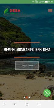 Website Desa poster