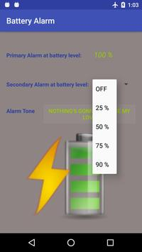 Battery Charging Alarm poster