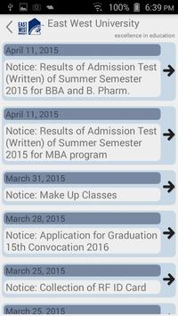 EWU Notice Board screenshot 2