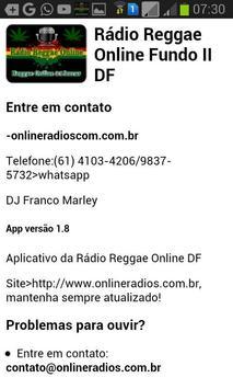 Rádio Reggae Online DF screenshot 2