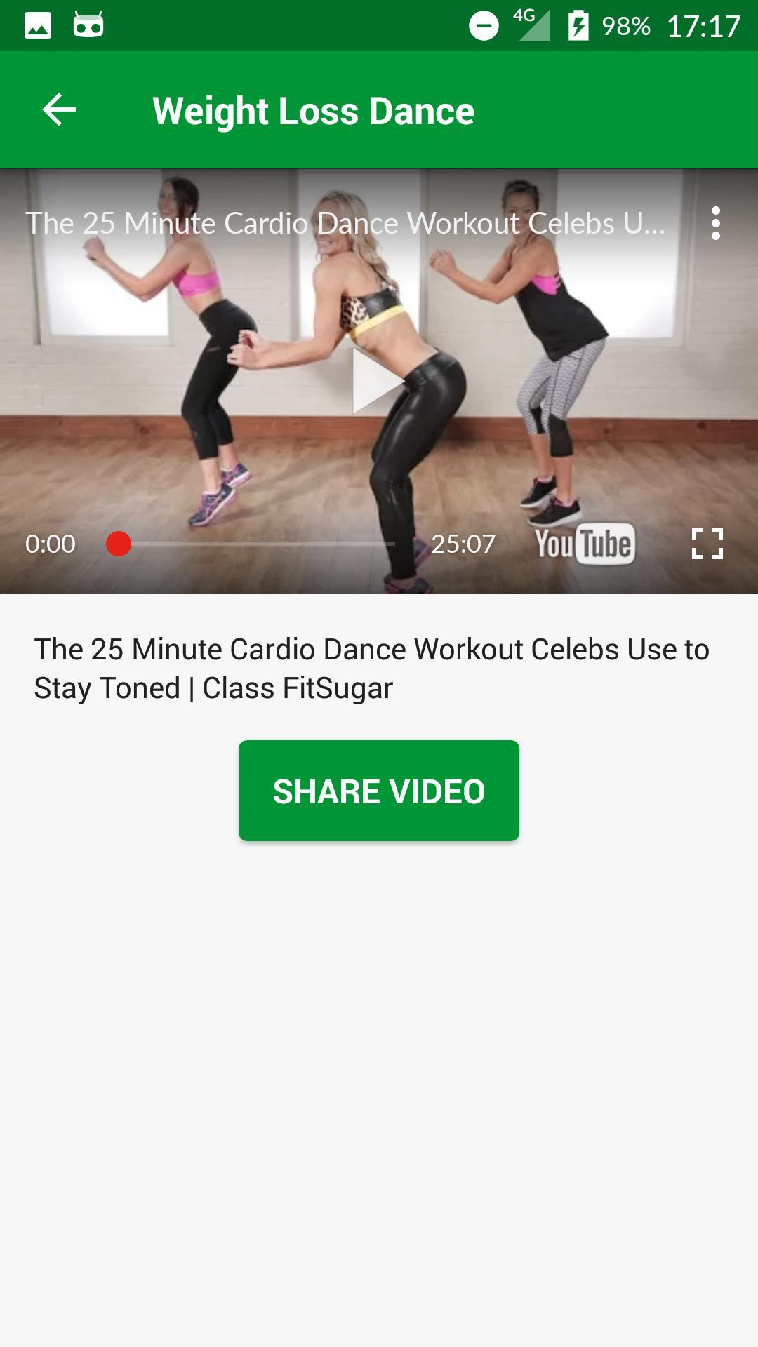 Gewichtsverlust Aerobic Youtube Video
