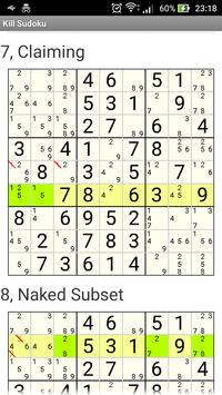 Kill Sudoku screenshot 1