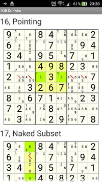 Kill Sudoku screenshot 2