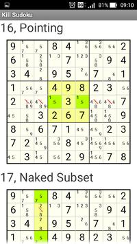Kill Sudoku Step by Step apk screenshot