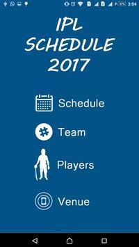 Schedule of IPL 2017 apk screenshot