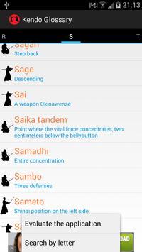 Glosario de Kendo captura de pantalla 3