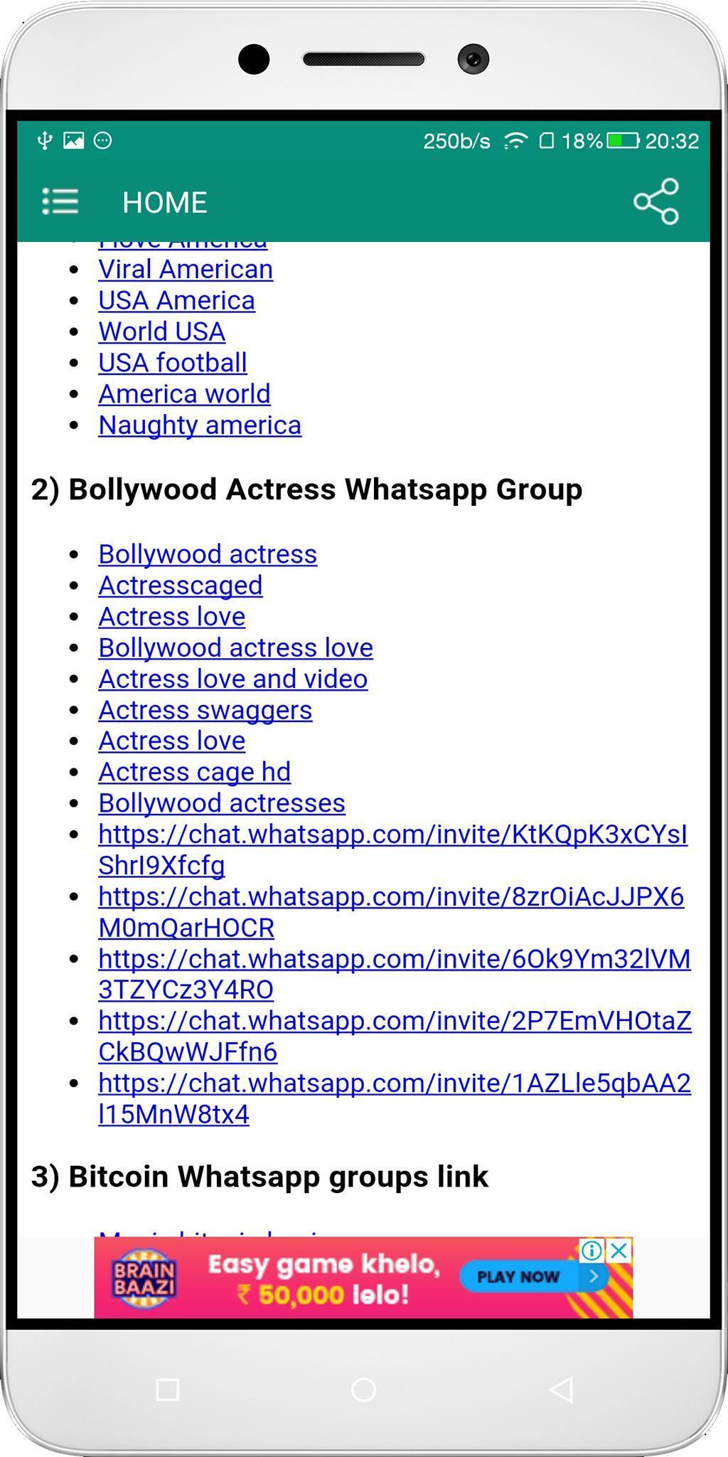 Groups 18 whatsapp