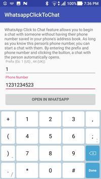 ClickToChat Whatsapp screenshot 1
