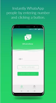 WhatsNow - Instant Open Chat w/o Saving Contact apk screenshot