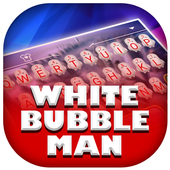 White Bubble Man Theme&Emoji Keyboard icon