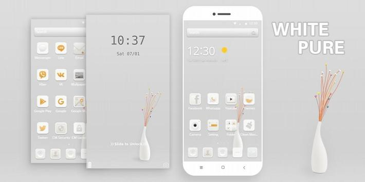Pure White Theme screenshot 3