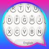 White Raindrops Theme&Emoji Keyboard icon