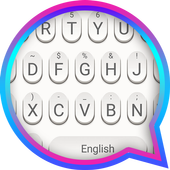 White Raindrops Theme&Emoji Keyboard आइकन