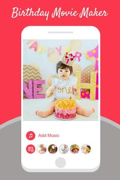 Birthday Photo Video Maker With Music poster