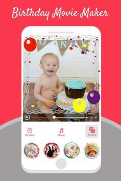 Birthday Photo Video Maker With Music screenshot 1