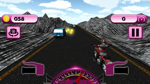 Thunder Female Bike Rider apk screenshot