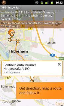GPS Trace Tag capture d'écran 6
